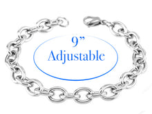 Load image into Gallery viewer, Adjustable Stainless Steel Charm Bracelet with 12mm Snap Dangle