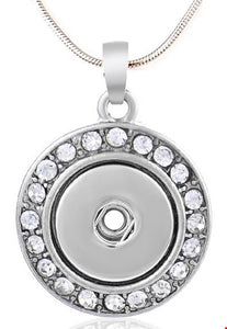 12mm Single Snap Bling Necklace