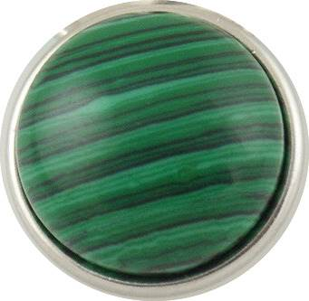 18/20mm Malachite Natural Stone Snap