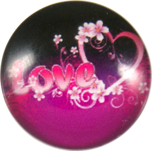 18/20mm Pink Heart Love Snap