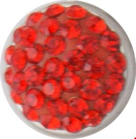 12mm Crystal Bling July Birthstone Snap