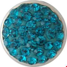 12mm Crystal Bling December Birthstone Snap
