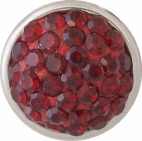 12mm Crystal Bling January Birthstone Snap