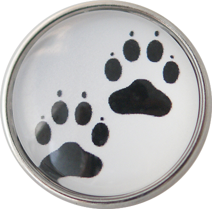 18/20mm Paw Prints Snap