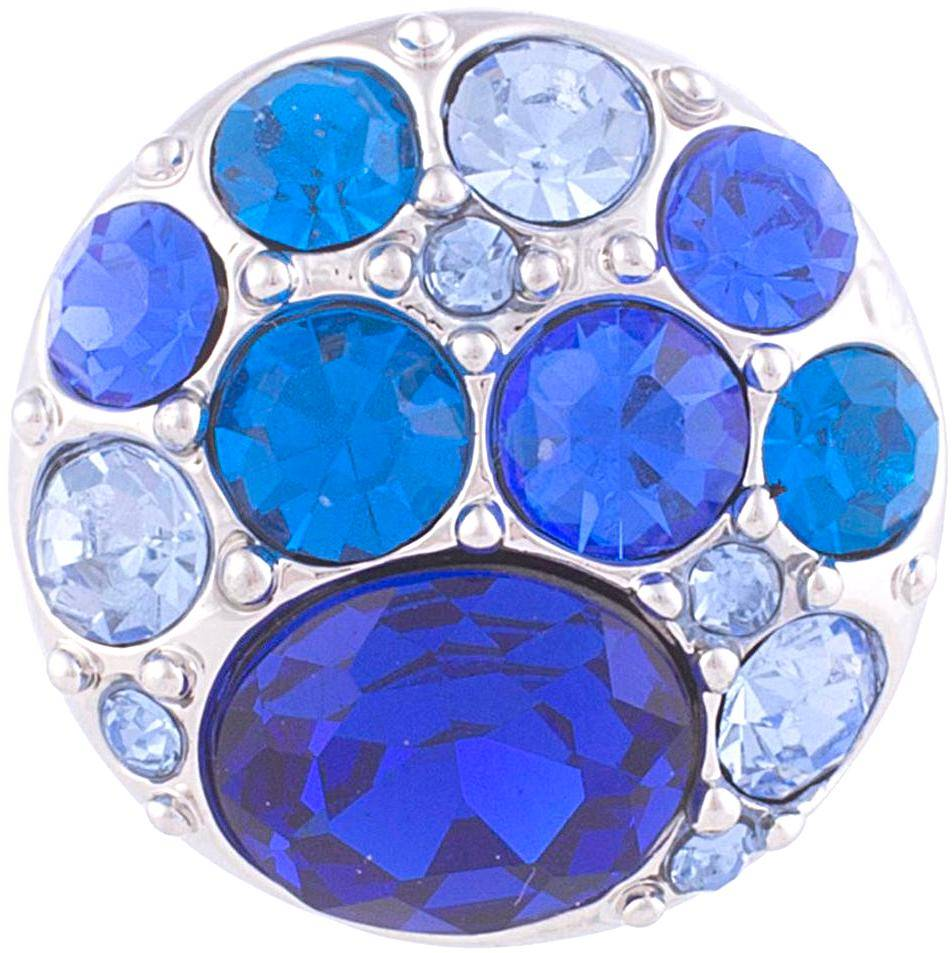 18/20mm Brilliant Blues Multi Crystal Snap