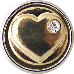 12mm Golden Heart Snap