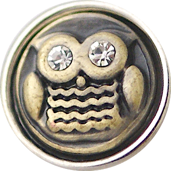 12mm Golden Owl Snap