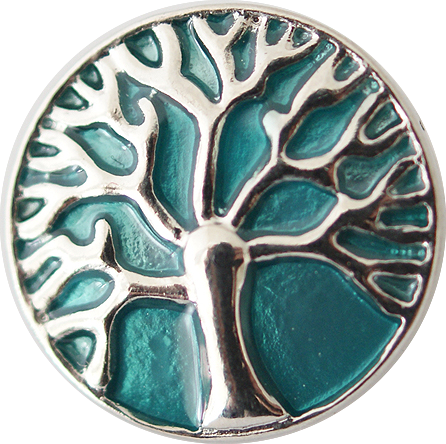 18/20mm Turquoise Tree of Life Snap