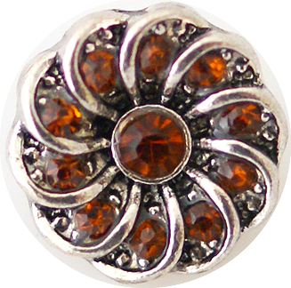 12mm Topaz Crystal Swirl Snap