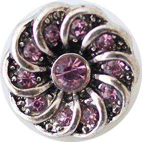 12mm Lavender Crystal Swirl Snap