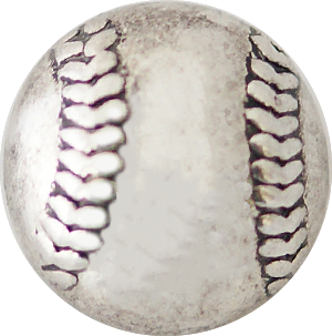12mm Silver Baseball Snap
