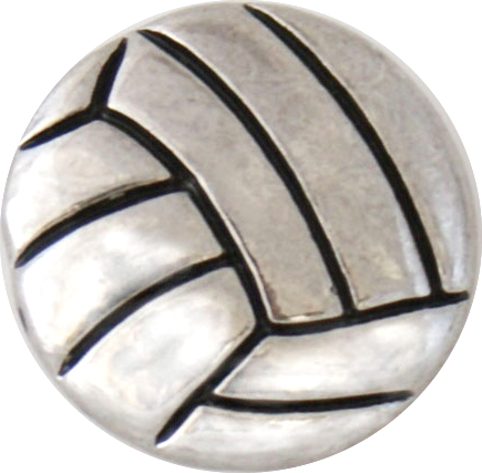 18/20mm Silver Volleyball Snap
