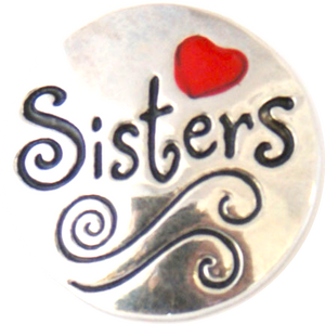 18/20mm Sisters-Red Heart Snap