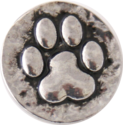 18/20mm Silver Paw Print Snap