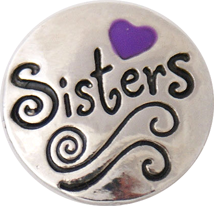 18/20mm Sisters-Purple Heart Snap