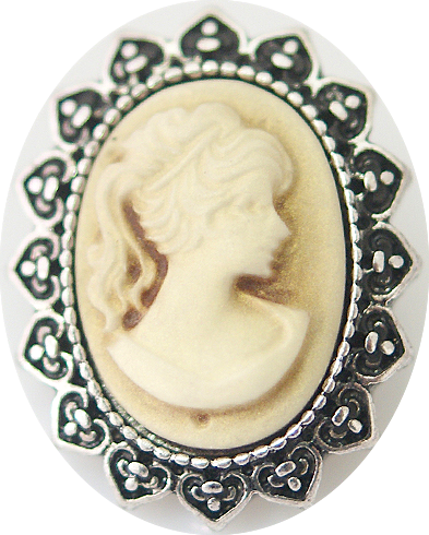 18/20mm Vintage Cameo Style Snap
