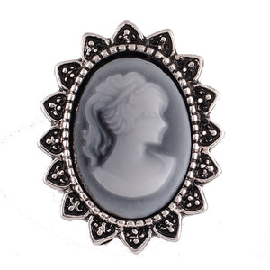 "18/20mm Black & ""White"" Cameo Snap"