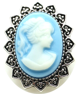 18/20mm Blue & White Cameo Snap