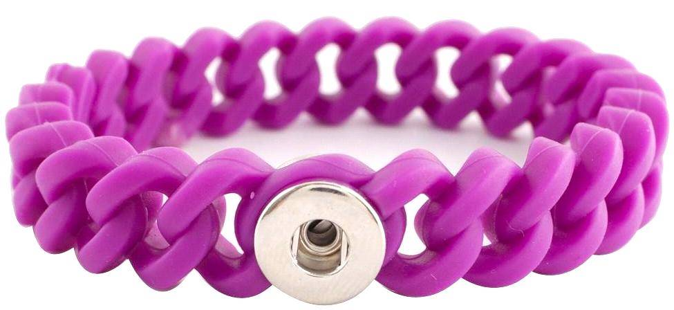 12mm Purple Silicone Stretch Bracelet