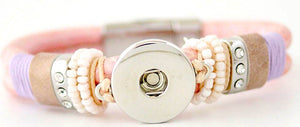 18/20mm Pink Bling 1 Snap Bracelet