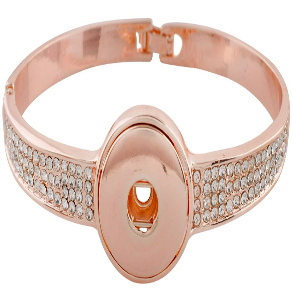18/20mm Rose Gold Crystal Bling Statement Bracelet