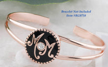 Load image into Gallery viewer, 18/20mm Rose Gold & Black Mom Snap