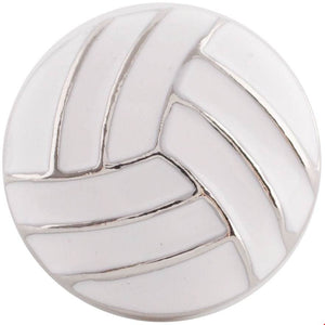 18/20mm Enameled Volleyball Snap