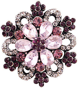 18/20mm Purple Crystal Bling Snap