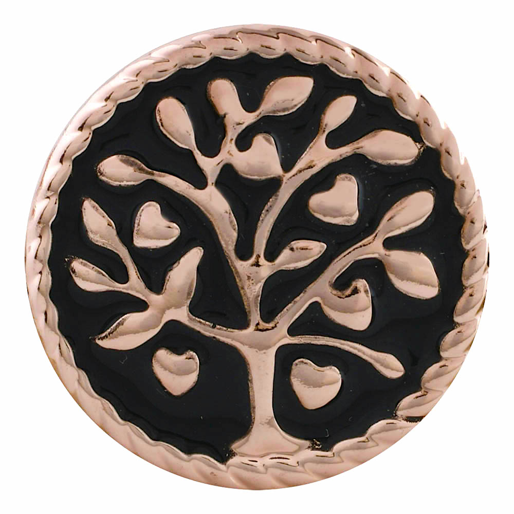18/20mm Rose Gold Family Tree Snap
