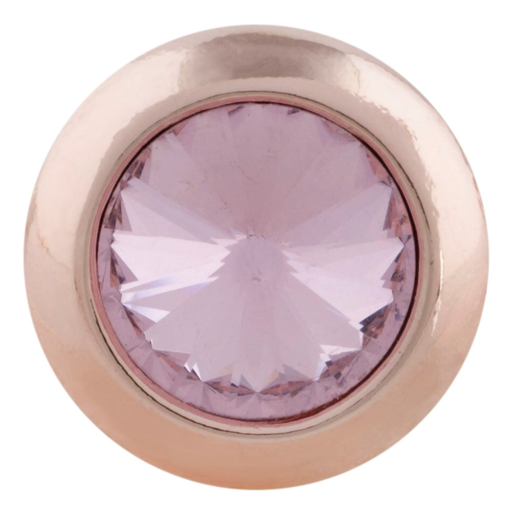18/20mm Rose Gold Crystal October Birthstone Snap