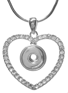 12mm Crystal Heart Necklace