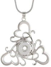Load image into Gallery viewer, 12mm Silver Swirled Hearts Necklace
