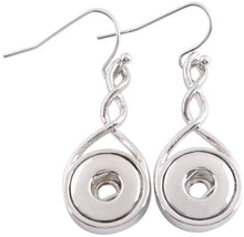 Load image into Gallery viewer, 12mm Elegant Silver Twist Earring Bases