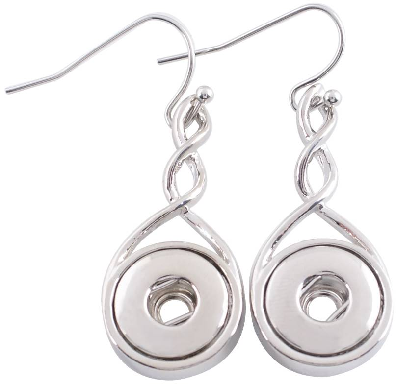 12mm Elegant Silver Twist Earring Bases