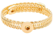 Load image into Gallery viewer, 12mm Gold Narrow Coil Band Adjustable Cuff Bracelet
