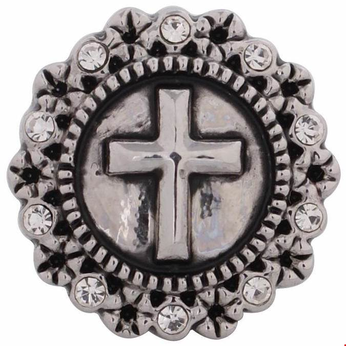 12mm Vintage Cross Snap