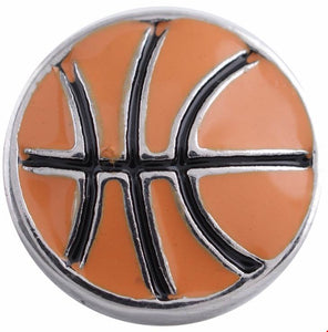 12mm Enamel Basketball Snap
