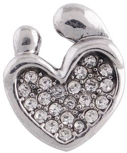 12mm Mother And Child Crystal Heart Snap