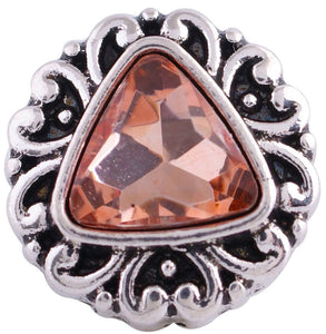 12mm Topaz Triangular Stone Deco Snap