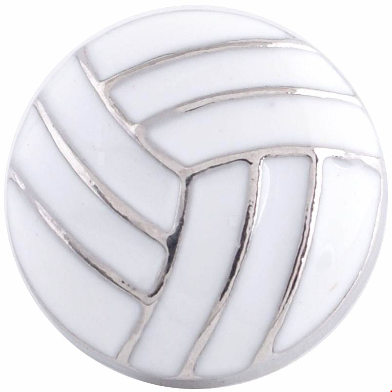 12mm Enamel Volleyball Snap