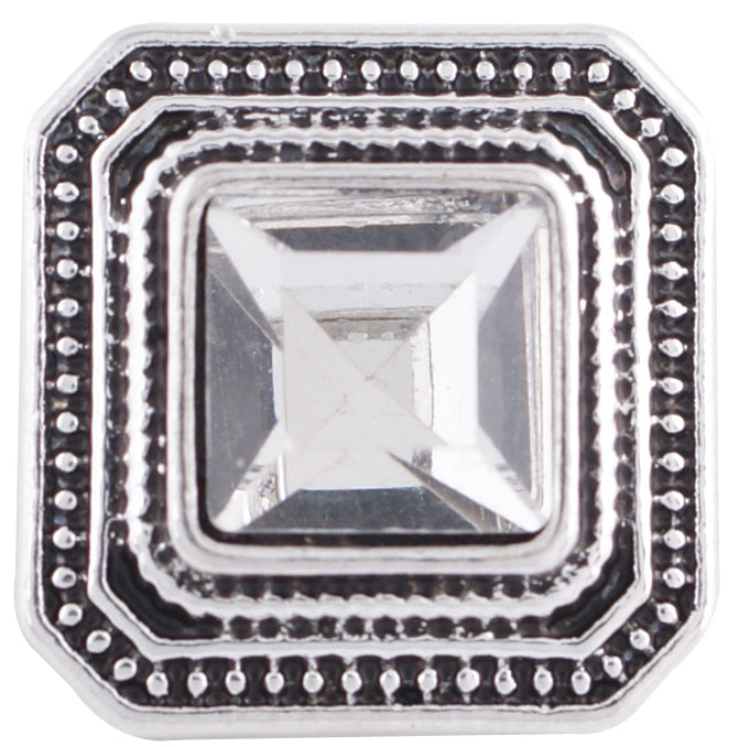 12mm Clear Stone Square Snap