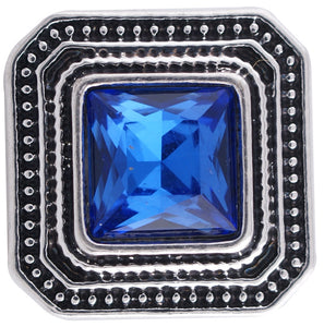 12mm Deep Blue Stone Square Snap