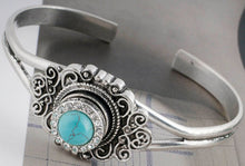 Load image into Gallery viewer, 12mm Turquoise & Crystals Snap