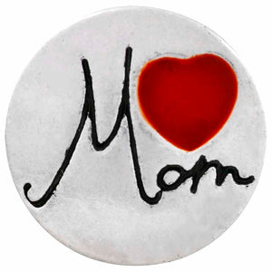 12mm Love Mom Snap