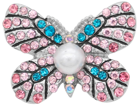 18/20mm Sparkle Crystal Butterfly Snap