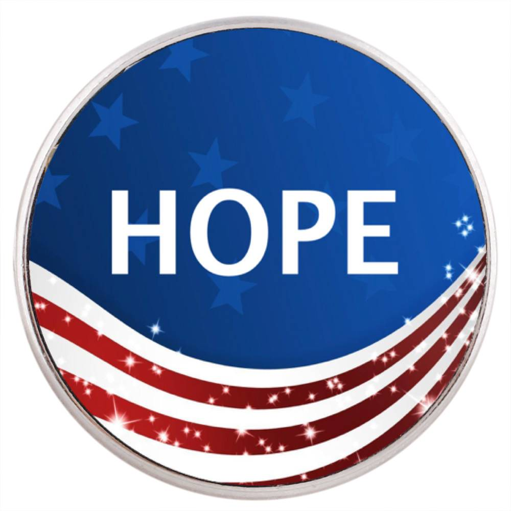 18/20mm Hope Flag Snap