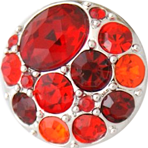 18/20mm Brilliant Reds Multi Crystal Snap