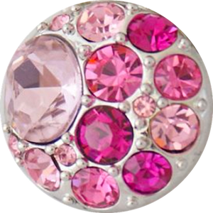 18/20mm Brilliant Pinks Multi Crystal Snap