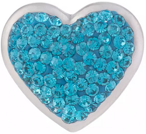 Beautiful Blue Crystal Heart 18/20mm Snap