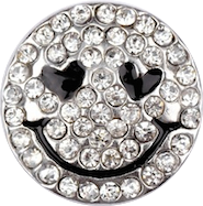 18/20mm Bling Smiley Face Snap